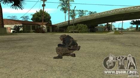 Captain Price para GTA San Andreas segunda pantalla