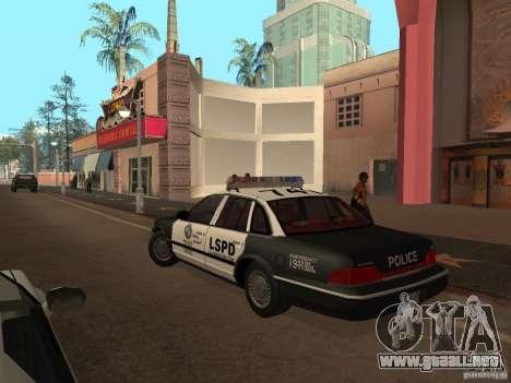 Ford Crown Victoria LSPD para GTA San Andreas vista posterior izquierda