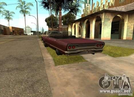 Vehículos estacionados en la calle Grove para GTA San Andreas sucesivamente de pantalla