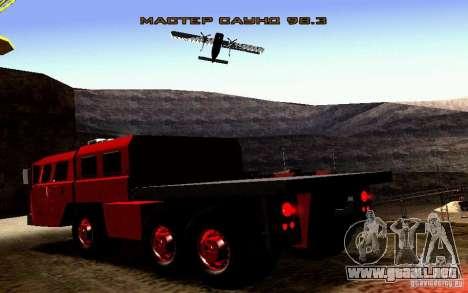 Versión estrecha Civil MAZ-7310 para vista lateral GTA San Andreas