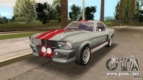 Ford Shelby GT500 para GTA Vice City vista posterior