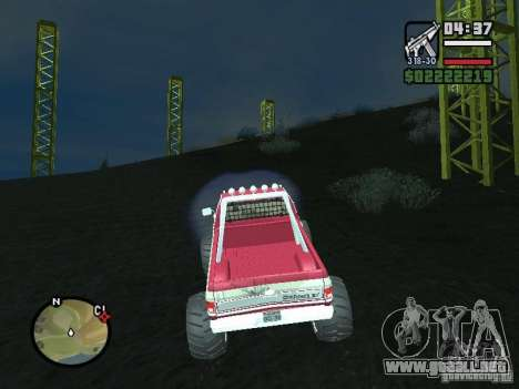 Monster tracks v1.0 para GTA San Andreas segunda pantalla