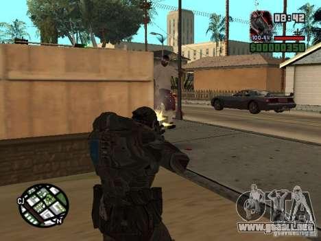 Marcus Fenix de Gears of War 2 para GTA San Andreas tercera pantalla