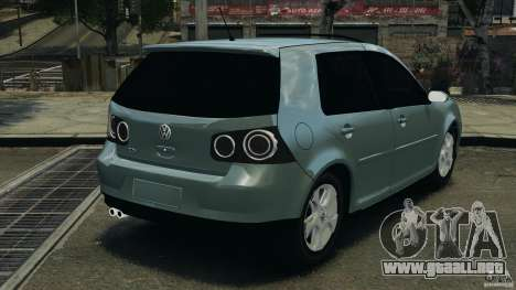 Volkswagen Golf Sportline 2011 para GTA 4 Vista posterior izquierda