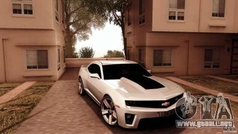 Chevrolet Camaro ZL1 2011 v1.0 para GTA San Andreas vista hacia atrás