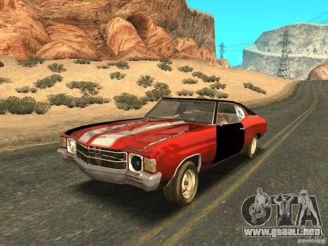Chevrolet Chevelle Rustelle para la vista superior GTA San Andreas