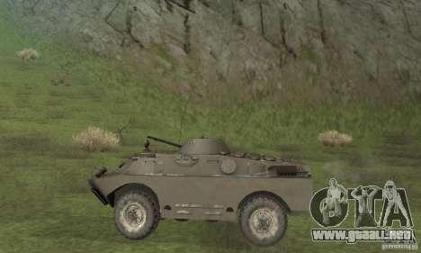Versión de invierno BRDM-2 para GTA San Andreas vista posterior izquierda