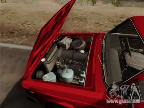 Lada 2105 RIVA (exportación) 2.0 para vista inferior GTA San Andreas