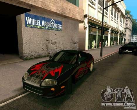 Toyota Supra NFS Most Wanted para la visión correcta GTA San Andreas