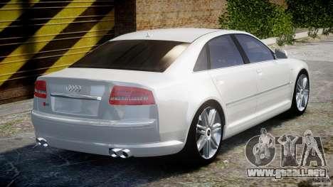 Audi S8 D3 2009 para GTA 4 vista superior