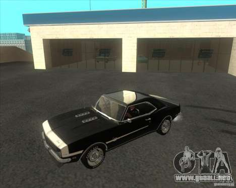 Chevrolet Camaro RSSS 396 1968 (fixed) para GTA San Andreas
