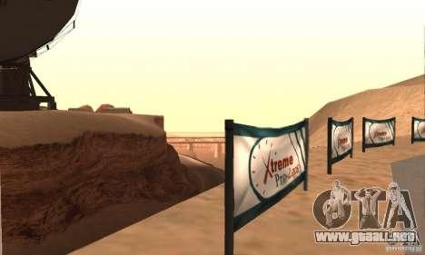 Pista para la deriva, el Big Ear v1 para GTA San Andreas sucesivamente de pantalla