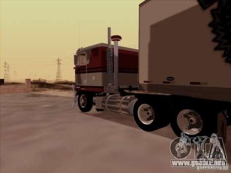 Kenworth K100 para GTA San Andreas vista posterior izquierda