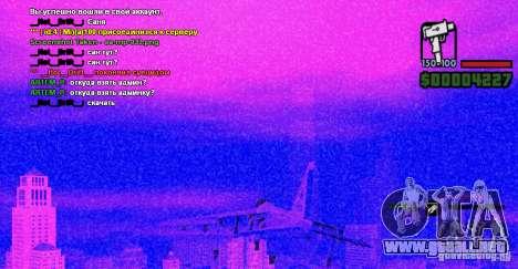 Ordenador de a bordo Hydra v1.0a para GTA San Andreas tercera pantalla
