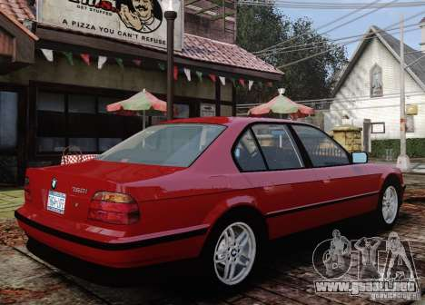 BMW 750i E38 1998 M-Packet para GTA 4 vista lateral