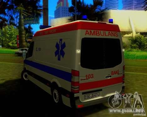 Mercedes-Benz Sprinter Baku Ambulans para la visión correcta GTA San Andreas