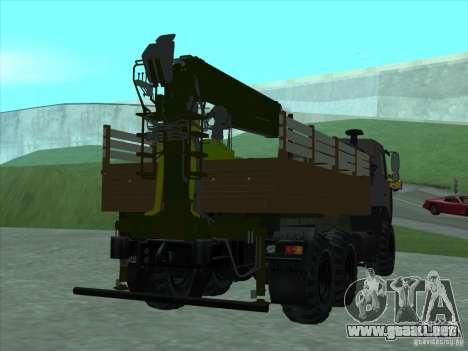 Manipulador de MAZ 6317 para la visión correcta GTA San Andreas