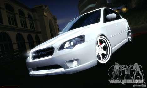 Subaru Legacy BIT edition 2004 para GTA San Andreas interior