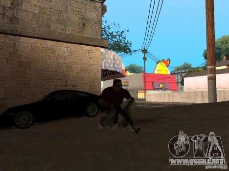 AK-47 HD para GTA San Andreas segunda pantalla