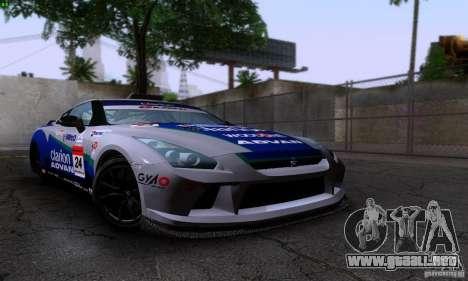 Nissan GTR R35 Tuneable para la visión correcta GTA San Andreas