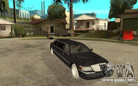 Lincoln Towncar limo 2003 para GTA San Andreas vista hacia atrás