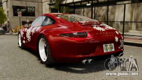 Porsche 911 (991) Carrera S para GTA 4 Vista posterior izquierda