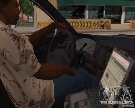 Chevrolet Impala 2003 VCPD police para GTA San Andreas vista hacia atrás