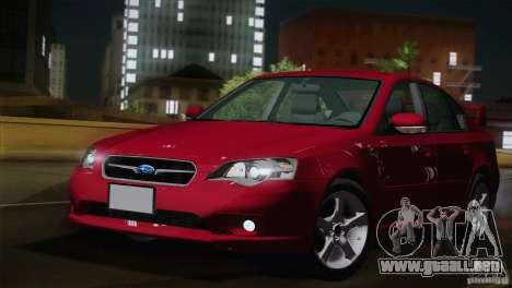 Subaru Legacy 2004 v1.0 para GTA San Andreas left