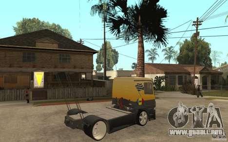 Mercedes Benz Actros Dragster para la visión correcta GTA San Andreas
