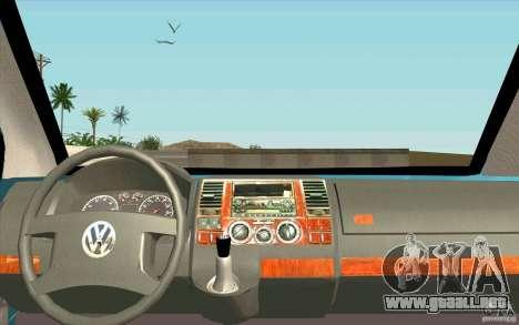 Volkswagen Caravelle para la visión correcta GTA San Andreas