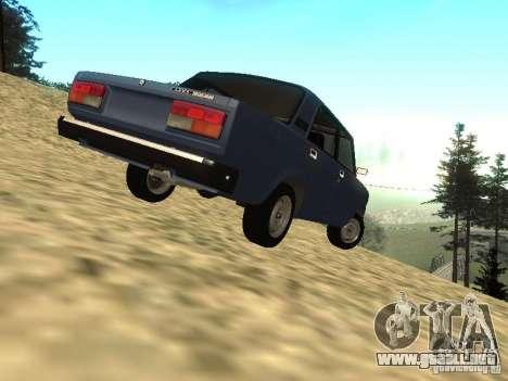 VAZ 2107 v1.1 para GTA San Andreas vista posterior izquierda