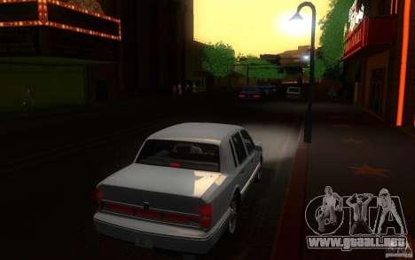 Lincoln Towncar 1991 para la visión correcta GTA San Andreas