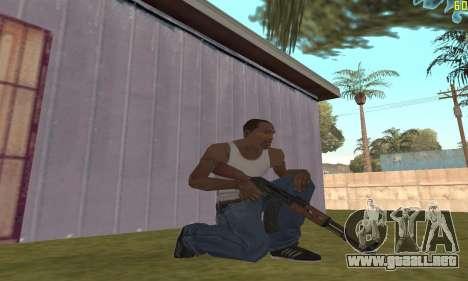 Kalashnikov modernizado para GTA San Andreas segunda pantalla