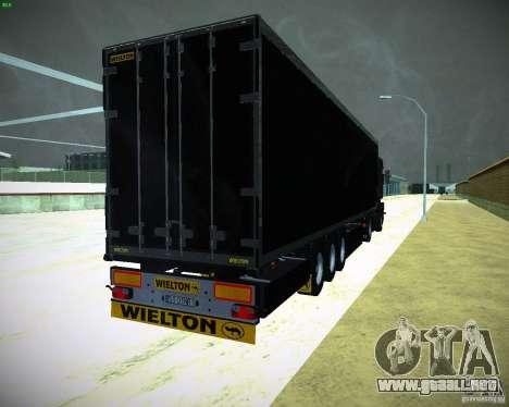 Wielton para GTA San Andreas vista posterior izquierda
