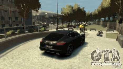 PORSCHE Panamera Turbo para GTA 4 visión correcta
