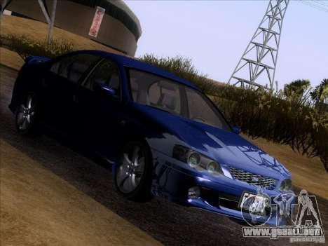 Ford Falcon para GTA San Andreas vista hacia atrás