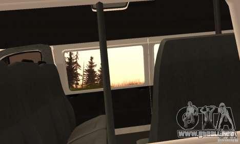 Gacela 32213 Novosibirsk Minibus para GTA San Andreas vista hacia atrás