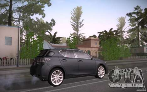 Lexus CT200H 2011 para la visión correcta GTA San Andreas