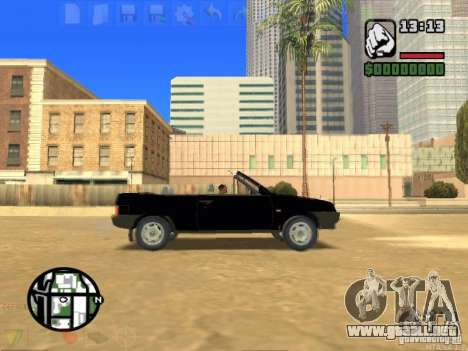 VAZ 2108 Convertible para GTA San Andreas left