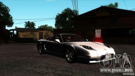 Acura NSX Stock para GTA San Andreas vista hacia atrás