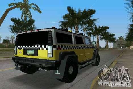 Hummer H2 SUV Taxi para GTA Vice City vista lateral izquierdo