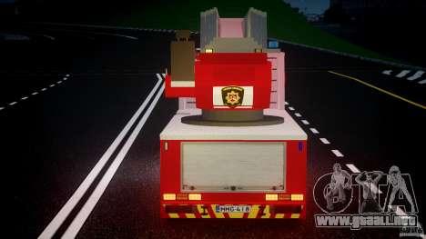 Scania R580 Fire ladder PK106 [ELS] para GTA 4 interior