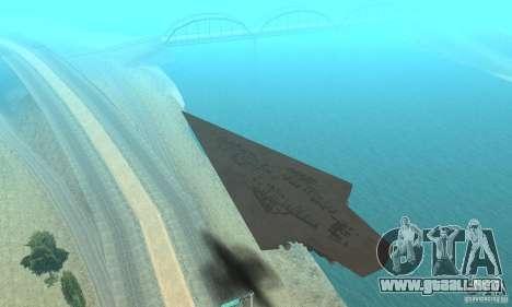 Executor Class Stardestroyer para GTA San Andreas vista hacia atrás