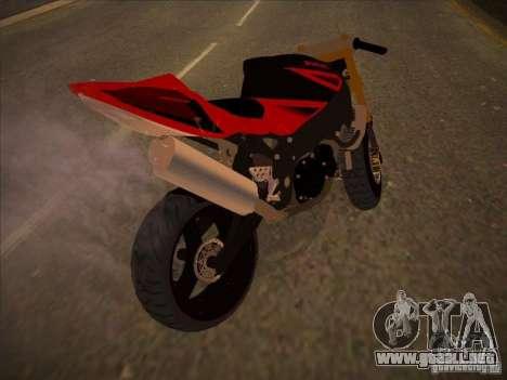 Suzuki Hayabusa Street para la visión correcta GTA San Andreas