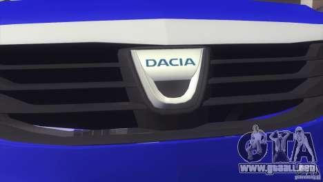 Dacia Logan MCV Facelift para GTA San Andreas vista posterior izquierda
