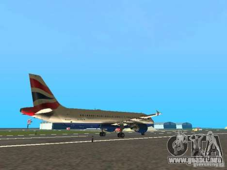 Airbus A320 British Airways para la visión correcta GTA San Andreas