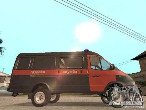 Servicio de gas gacela 2705 para GTA San Andreas vista posterior izquierda