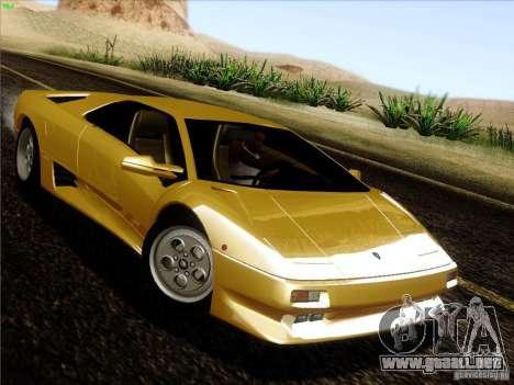 Lamborghini Diablo VT 1995 V3.0 para GTA San Andreas vista hacia atrás