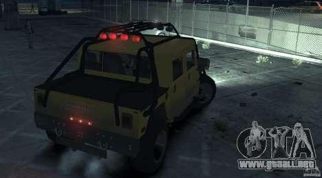 Hummer H1 4x4 Extras para GTA 4 Vista posterior izquierda