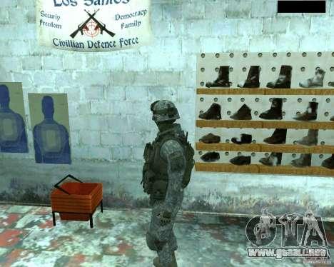 Soldado de infantería piel CoD MW 2 para GTA San Andreas sucesivamente de pantalla